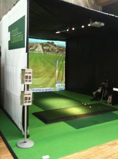 Simulador de golf en Decathlon